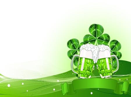 St. Patricks Day Celebration Background with Copy space.