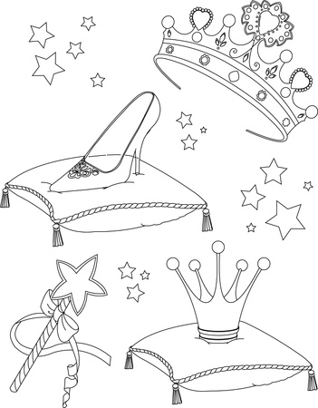 beautiful princess: Beautiful princess Collectibles coloring page