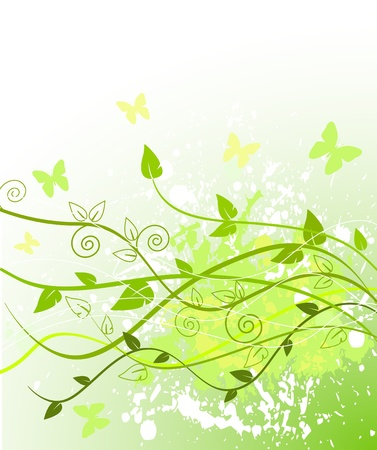 Spring green background with copy space