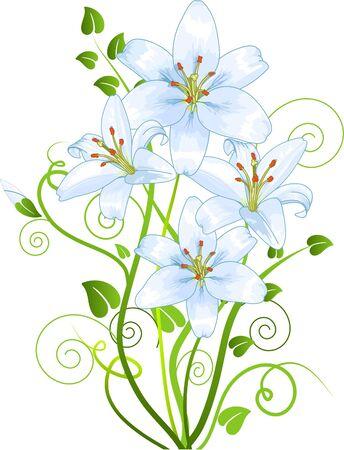 Elementi floreali astratti