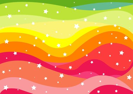 Colorful Rainbow Background  Иллюстрация
