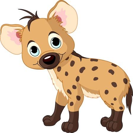 Illustratie van een schattige baby boy hyena staande Stockfoto - 9220475