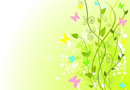Lente groene achtergrond met kopiëren ruimte Stock Illustratie