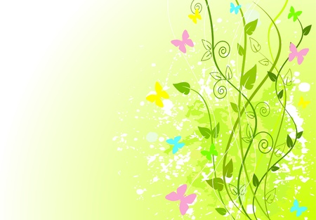 grass: Spring green background with copy space