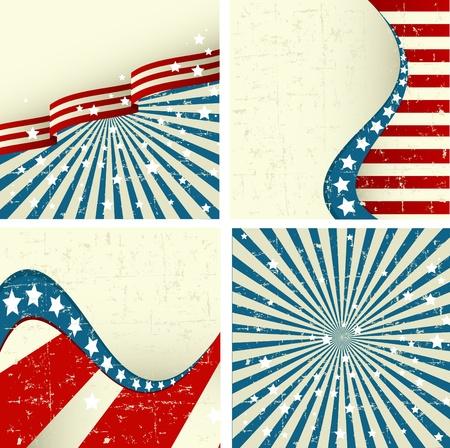 愛国的な背景のセットのイラスト  イラスト・ベクター素材