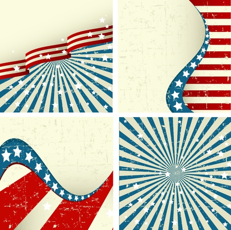 usa patriotic: Illustration  of set of patriotic background