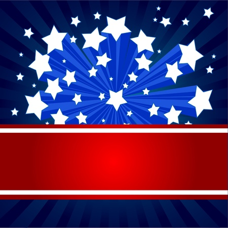 stars and stripes:  An American starburst background
