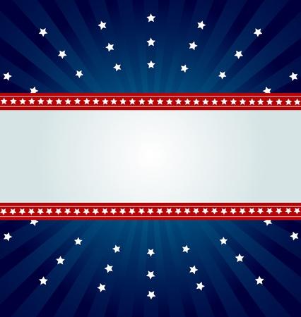 bandera americana:  Fondo patri�tico para cuatro de julio Vectores