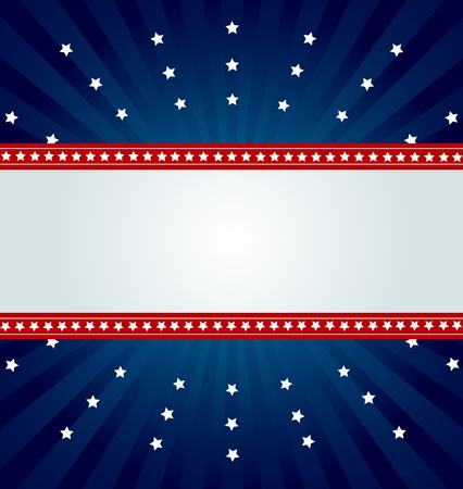 american flag background:  Patriotic background for Fourth of July Illustration