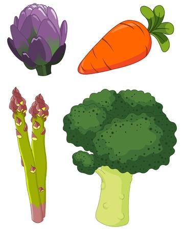 esparragos: El colorido conjunto de verduras