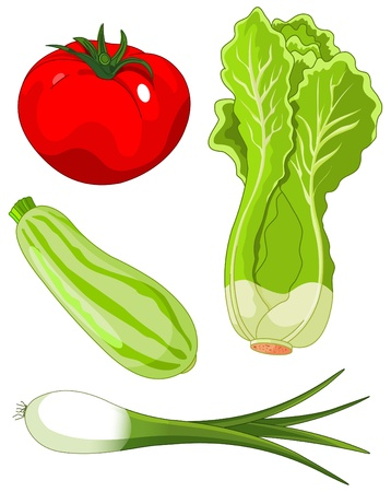 The  colorful set of vegetables Stock Vector - 9633421