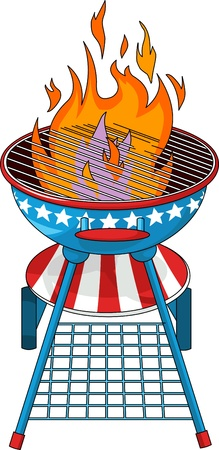 Patriotic  barbeque Grill Stock Vector - 9680936