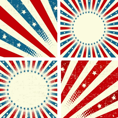 Illustration  of set of patriotic background Vector