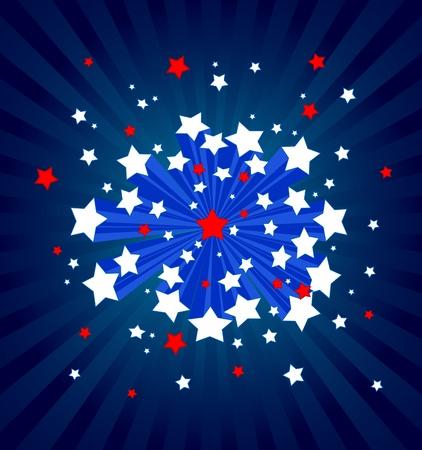 An American starburst background Vector