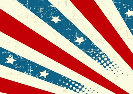 Illustration  of patriotic background Vector