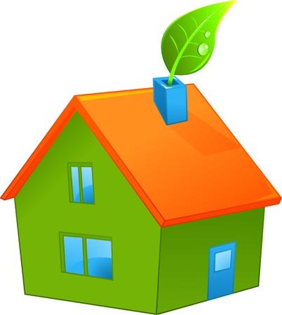 habitation: Illustration of organic green house Illustration