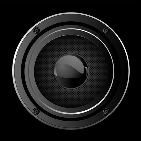 Illustration  of black Sound Speaker Vettoriali