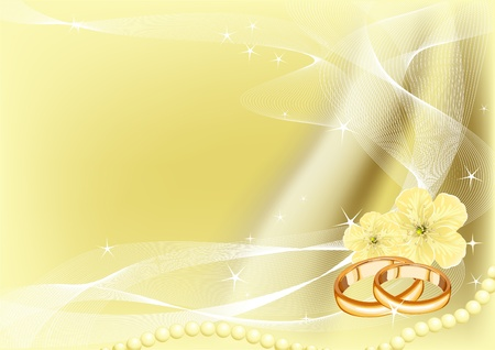 celebration background: Illustrations of beautiful Wedding Rings Background