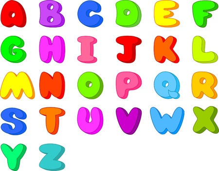 Funny  Cartoon font . Letters  from A to Z Vector