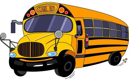 transporte escolar:  Ilustraci�n de un autob�s escolar