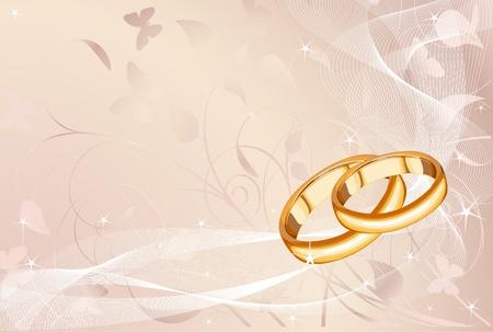 결혼 반지를 배경 파스텔