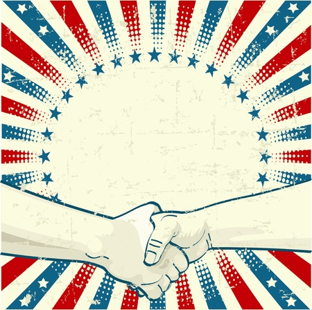 handoff: Labor Day Design  with the handoff worker holding the wrench Illustration
