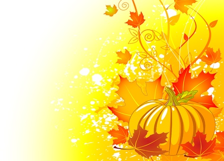 halloween background: Autumn  place card background with copy space