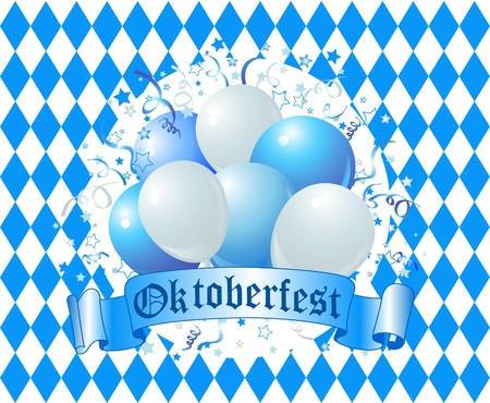 Oktoberfest Balloons Celebration Background  Stock Vector - 10418258