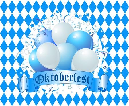 blau weiss:  Oktoberfest Balloons Celebration Background
