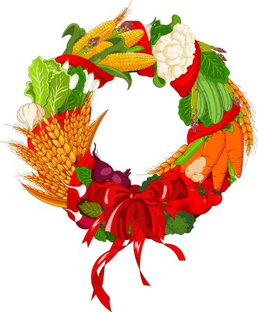 Autumn Welcome  vegetables design