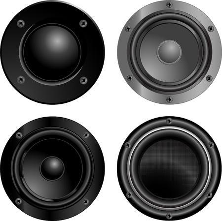 Set of sound speakers Stock Vector - 10658327