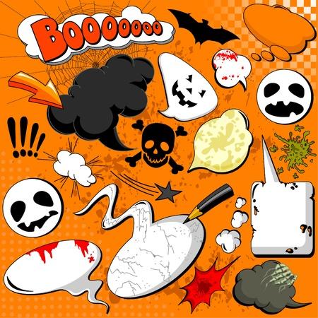 Halloween Comic speech bubbles for your design Vector