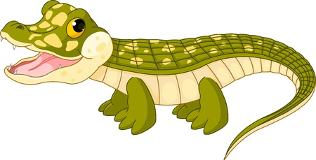 Illustration of very cute baby  crocodile Imagens - 10845817