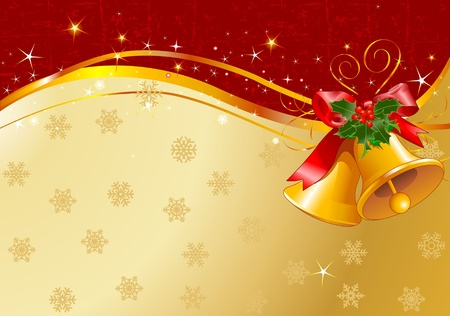 Christmas design with Christmas bells Vector