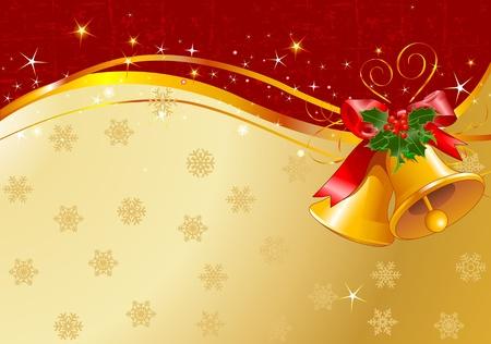 Diseño de Navidad con campanas de Navidad Foto de archivo - 10896627