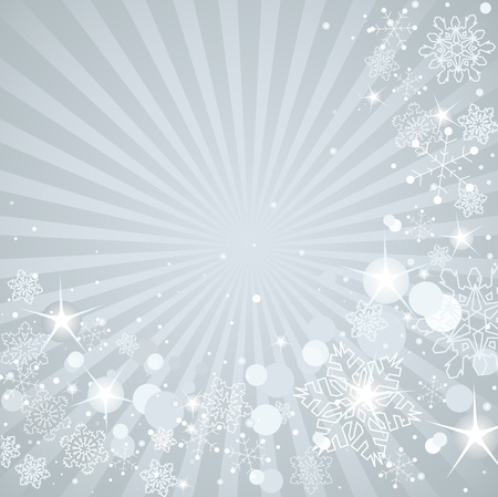 holiday celebrations: Winter background with white snowflakes Illustration