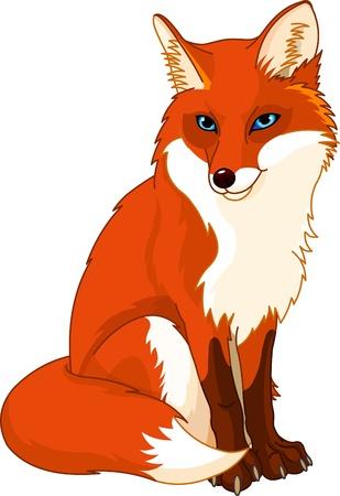 lobo feroz: Ilustraci�n de muy lindo zorro