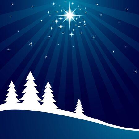 shutting: Radial Christmas background with shutting star