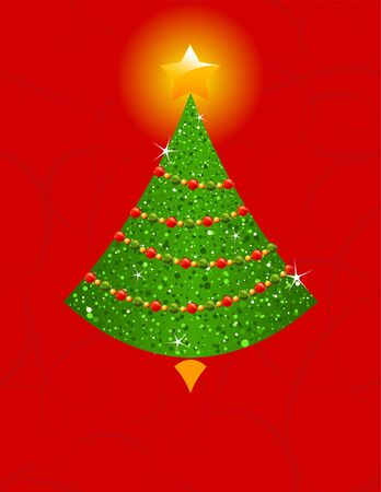 Holiday background with Christmas tree Stock Vector - 11209424