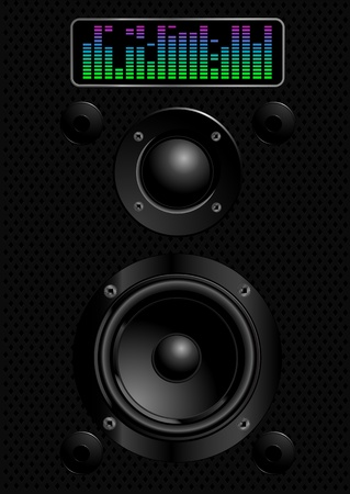 Illustration  of sound speakers Vettoriali