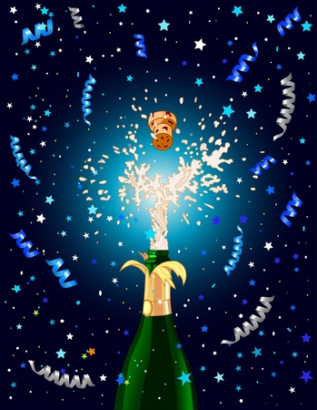 Celebration  background with Champagne. Best for New Year�s Eve Vector