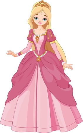 Illustration of  beautiful  princess Vector