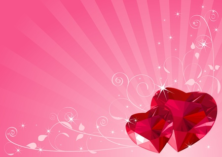 Valentine background with hearts and place for a text Vector