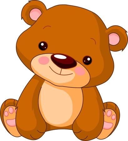 furry animals: Divertido zoo. Ilustración de lindo oso Vectores