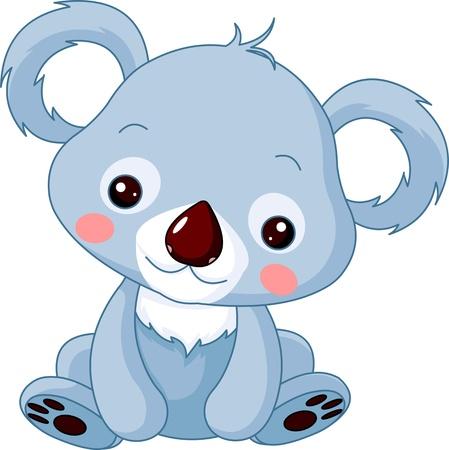 Diversión zoológico. Ilustración de lindo oso de koala Ilustración de vector