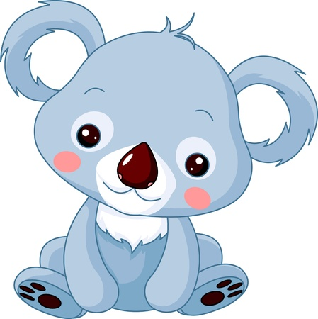 cute bear: Fun zoo. Illustration of cute Koala Bear