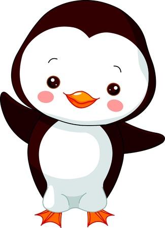 cute: Fun Zoo. Illustration von niedlichen Pinguin