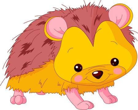 Leuke dierentuin. Illustratie van schattige Hedgehog Stock Illustratie