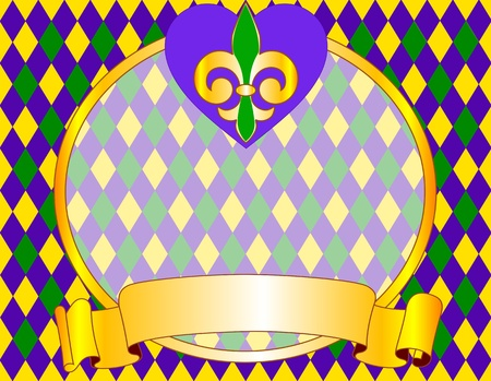 mardi gras: Mardi Gras background design with place for text Illustration