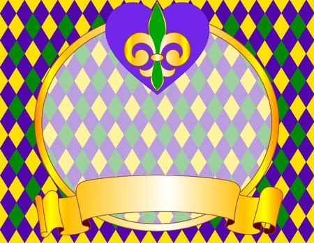 mardi gras: Mardi Gras disegno di sfondo con il posto per il testo Vettoriali